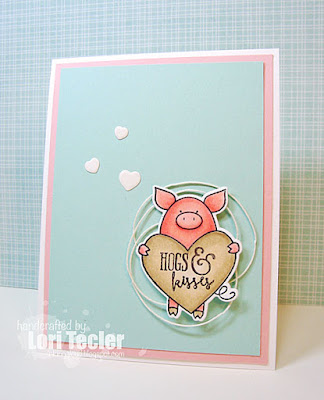 Hogs and Kisses card-designed by Lori Tecler/Inking Aloud-stamps and dies from Avery Elle