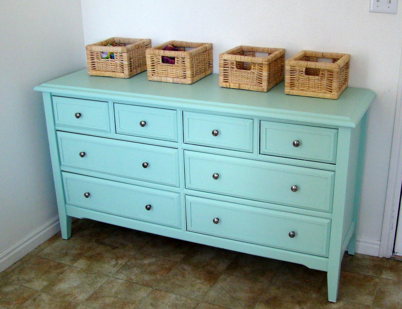 Just Enough Style: Dresser turned Kitchen Buffet