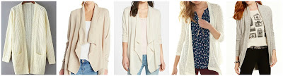 Romwe Open Knit Pockets Cardigan $16.33 (regular $29.25)  Leo & Nicole Missy Long Sleeve Drape Front Open Cardigan $19.18 (regular $48.00)  Caslon Linen & Cotton Open Front Cardigan $23.90 (regular $58.00)  LC Lauren Conrad Textured Flyaway Cardigan $30.00 (regular $50.00)  Tommy Hilfiger Open Front Knit Cardigan $49.99 (regular $69.50)