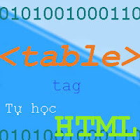 Table tag Thẻ tạo bảng biểu trong HTML