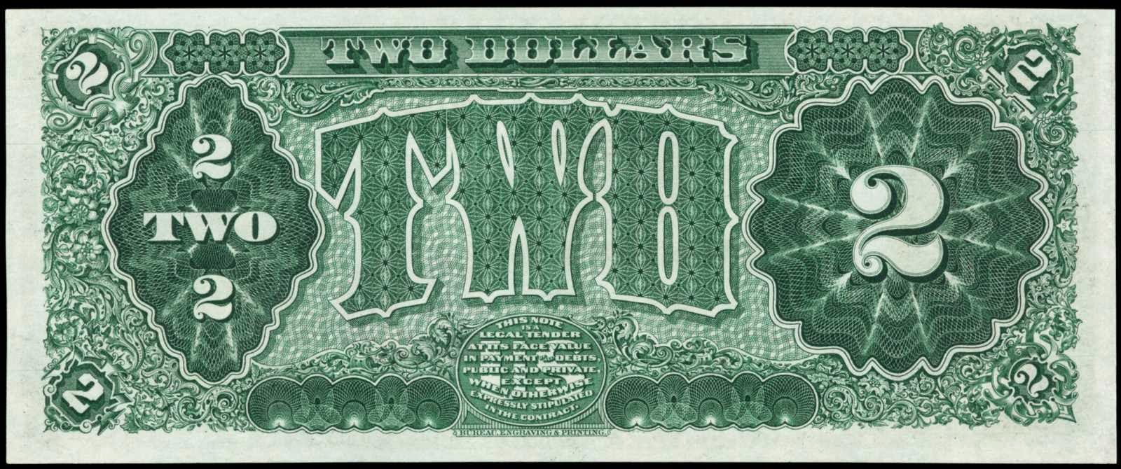 1890 2 Dollars Treasury Note