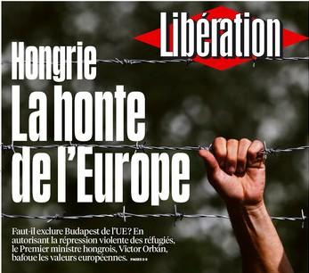 sajtószemle, Libération, Magyarország, menekültválság, Magyarország, Orbán Viktor,