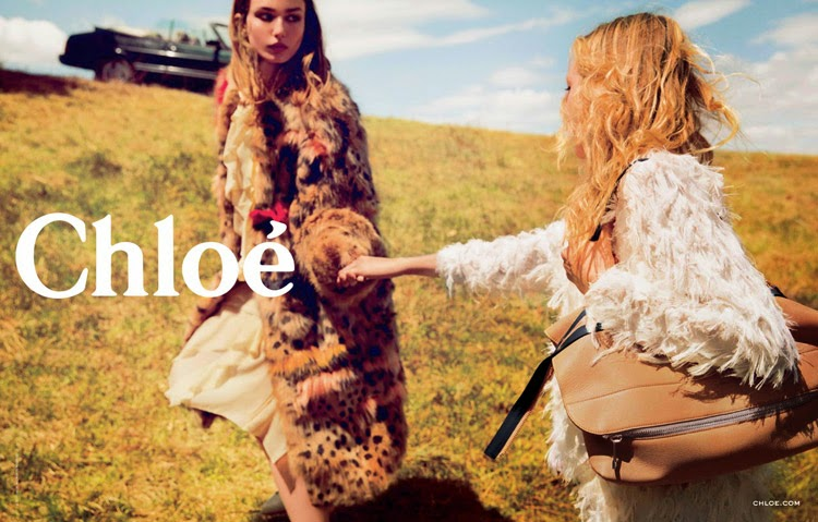 Chloe Fall/Winter 2014 Campaign starring Sasha Pivovarova and Andreea Diaconu
