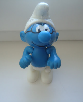 Brainy Smurf Toy/Collectable Figure/Year 2002 McDonalds