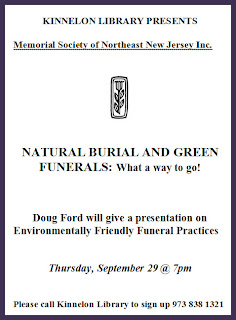 Green Burials at the Kinnelon Library 9/29/11