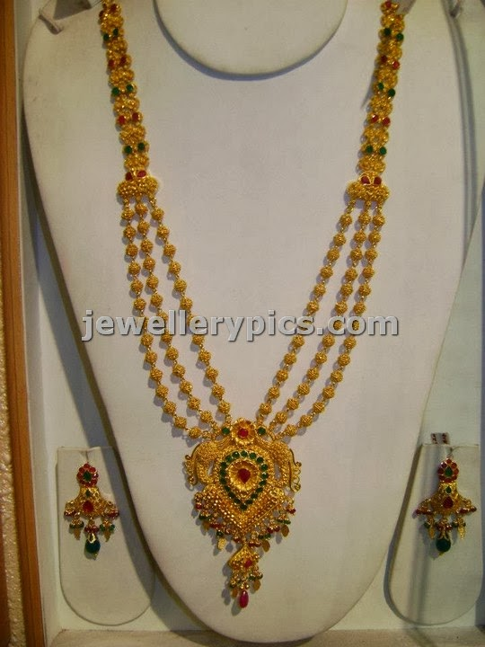 tripple step gundla haram from srimahalaxmi jewellers
