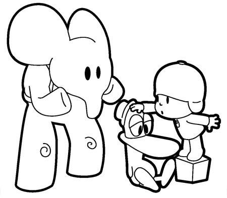 Dibujos para Colorear y Manualidades: Dibujos para colorear de Pocoyo