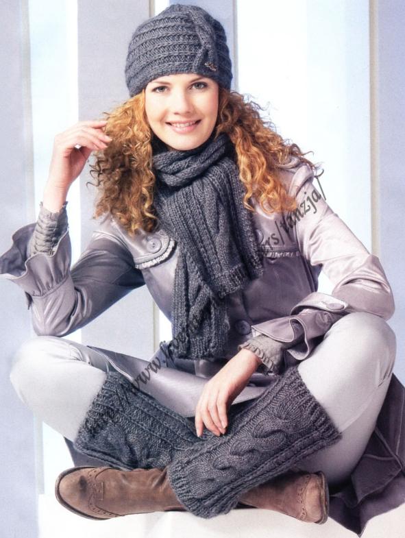 Вязание для женщин шапочек и шарфов