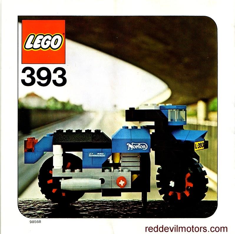 Lego model 393 - Norton Commando.