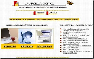 LA ARDILLA DIGITAL: RECURSOS PARA EDUCACIÓN ESPECIAL