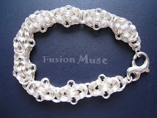 Sterling Silver Chain Maille Byzantine Variation By FusionMuse