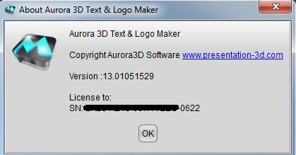 aurora 3d text & logo maker license key
