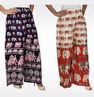 Buy Women Saffron Craft Printed Palazzos  at Rs.197 :buytoearn