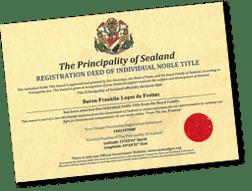 Título de nobleza de Sealand