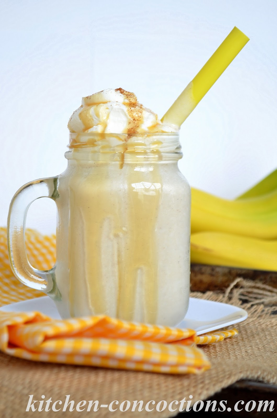 Bananas Foster Milkshake - Kitchen Concoctions