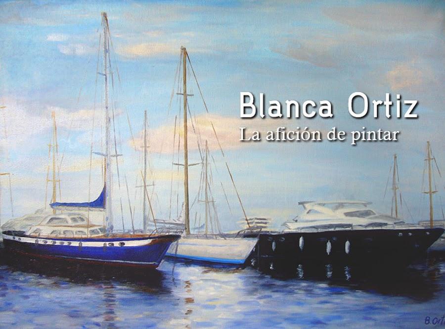 Blanca Ortiz: la afición de pintar...