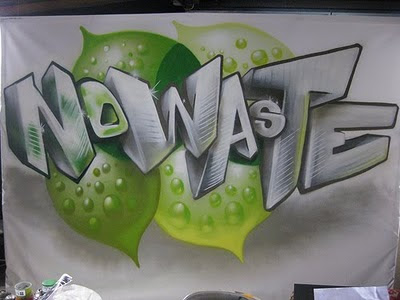 3D Graffiti Letters No Waste