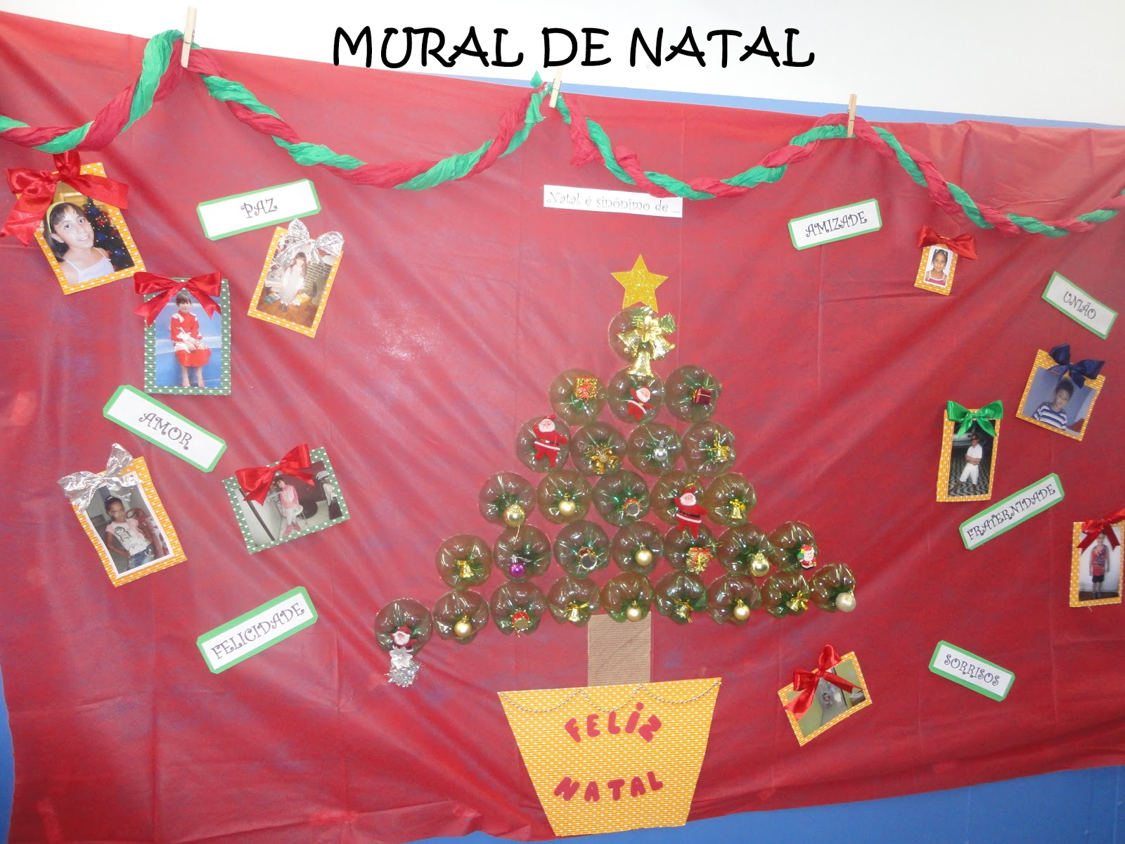 Pr cris educando com amor id ia p mural de natal for Mural de natal 4 ano