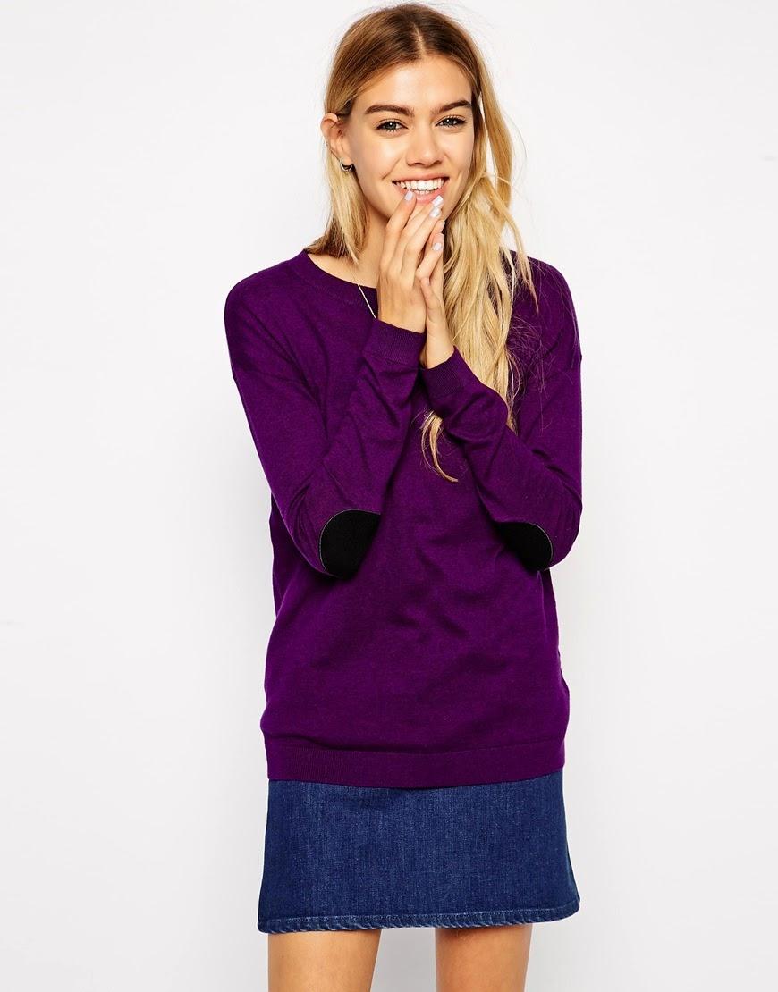 asos purple jumper