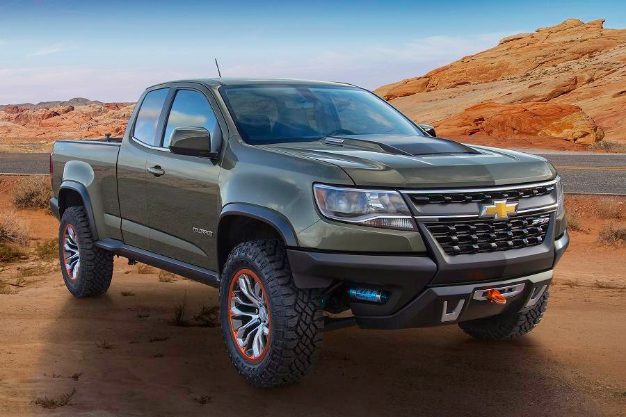 Chevrolet Colorado ZR2 Extended Cab Concept (2015 North American Spec) Front Side