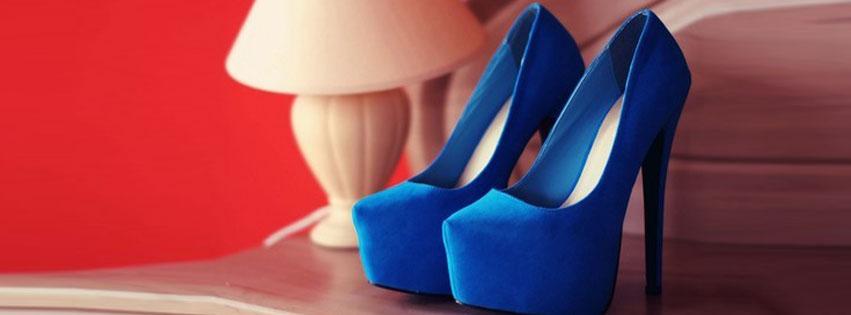 Blue Pumps Heel