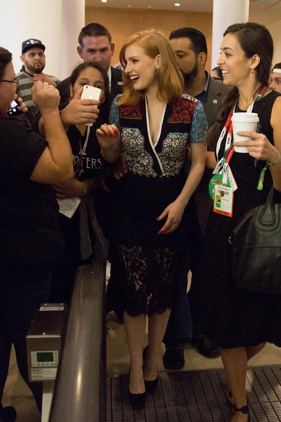 Photo: San Diego Comic Con of Jessica Chastain