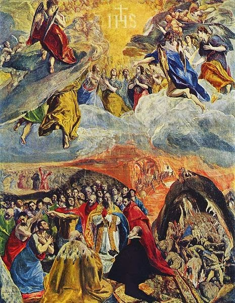 «Προσκύνηση του ονόματος του Ιησού»  (Αλληγορία της Ιερής Συμμαχίας) Ελ Γκρέκο