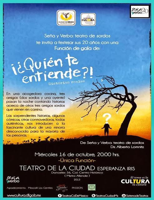 Obra de teatro para sordos en el Teatro de la Ciudad