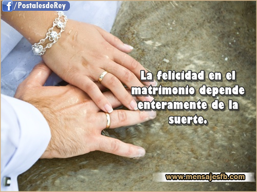 frase de matrimonio y amor