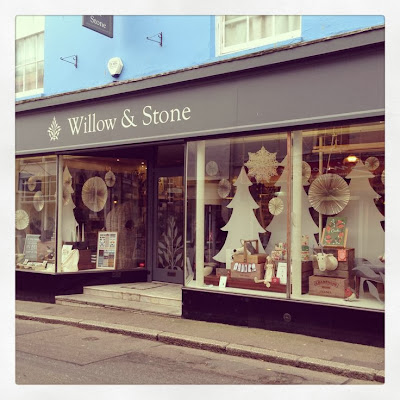 Willow and Stone Christmas window display