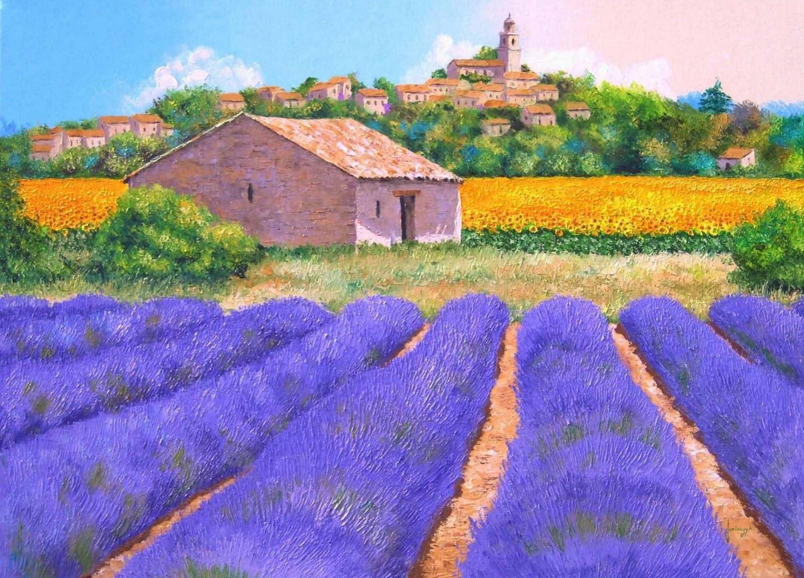 Cuadros modernos pinturas y dibujos el pintor de la - Cuadros de casas de campo ...