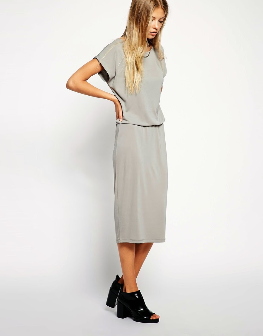 grey loose fit dress