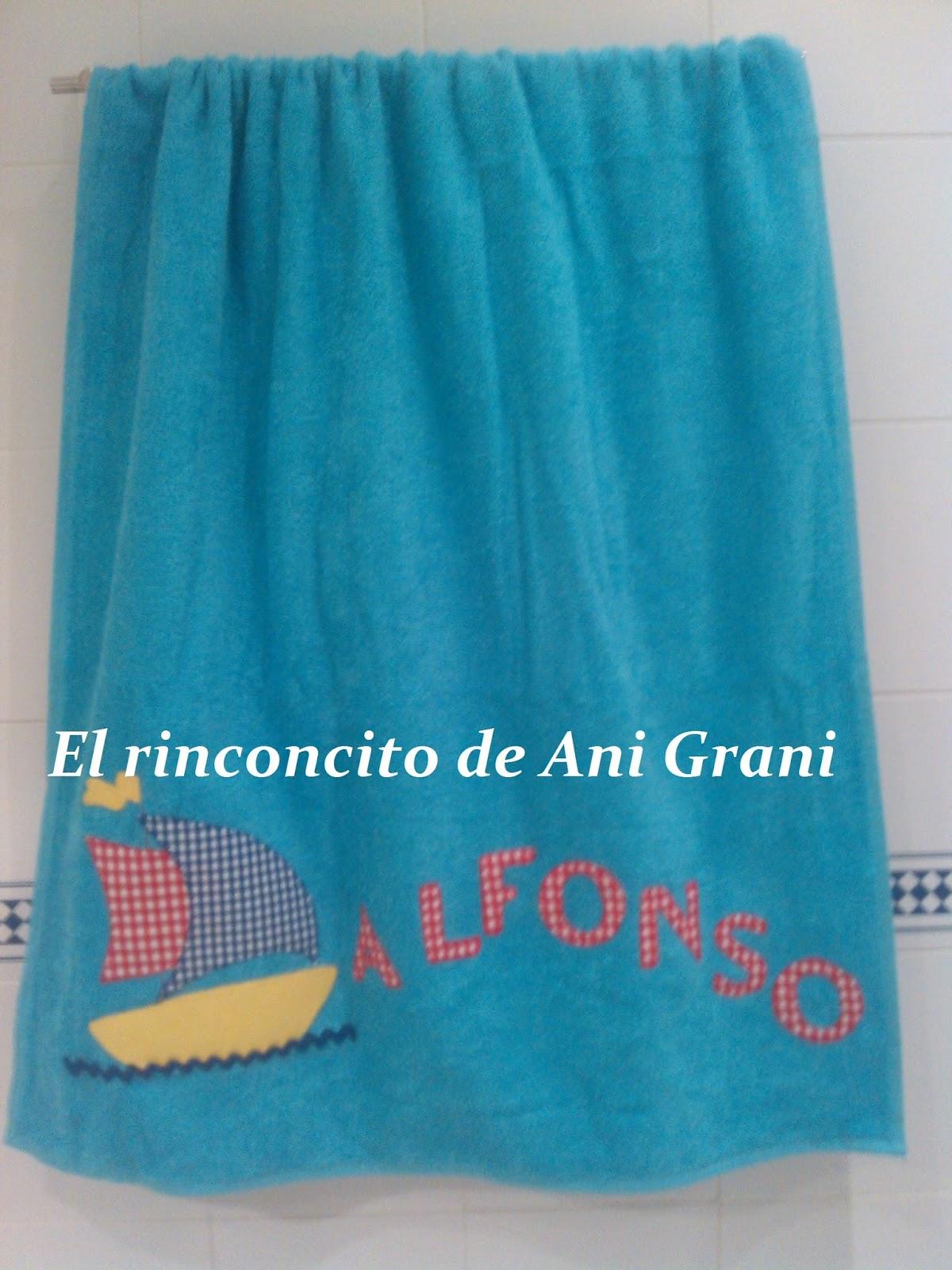 El rinconcito de anigrani m s toallas personalizadas - Toallas infantiles personalizadas ...