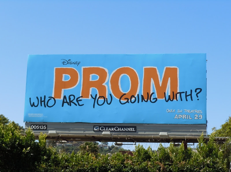 Disney Prom movie billboard