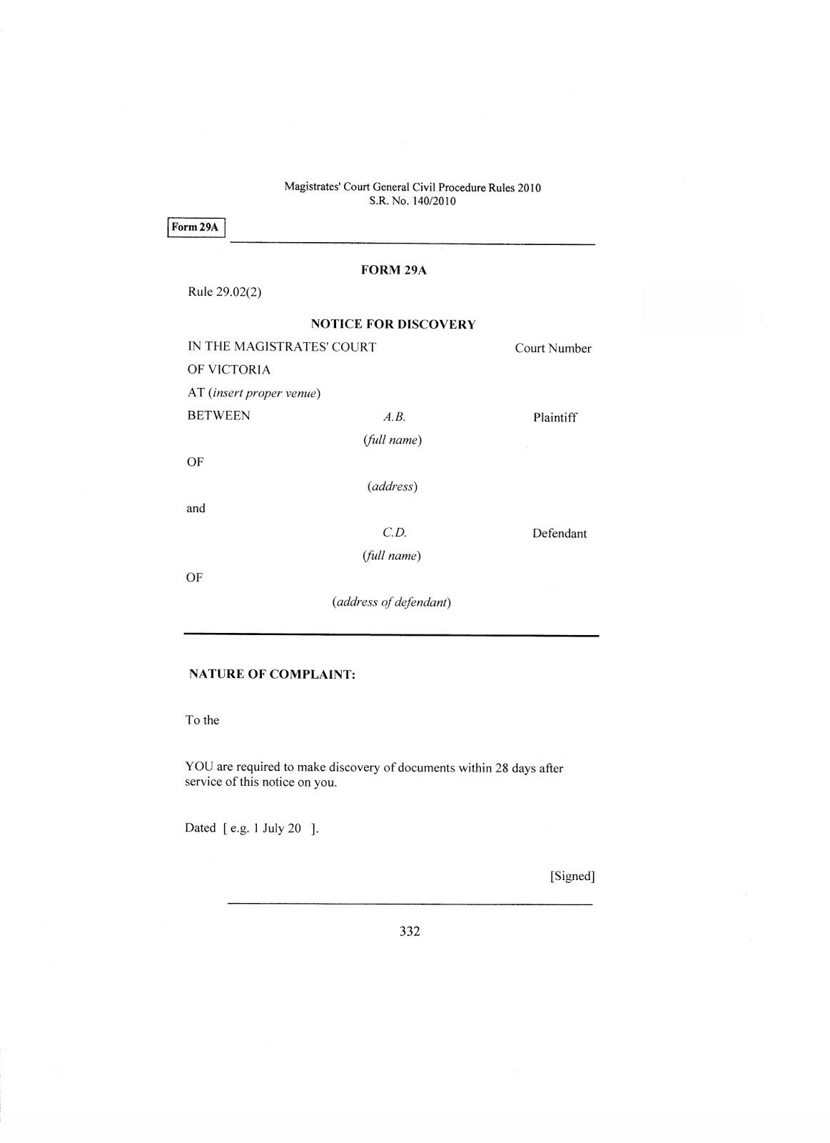 Stunning Federal Court Complaint Template Photos - Entry Level ...