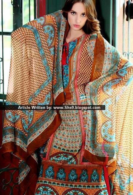 Printed Lawn with Chiffon Dupatta