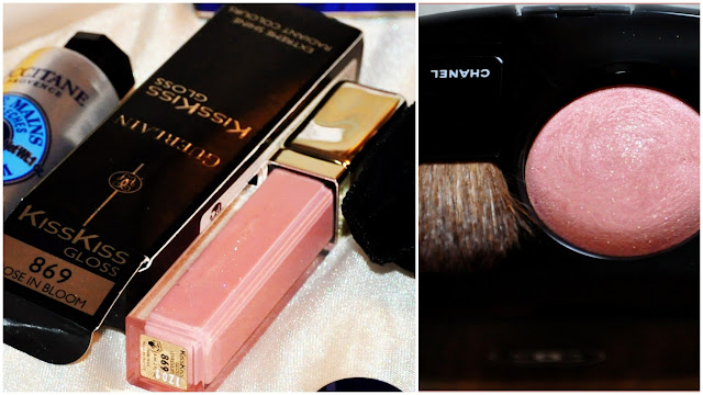 Guerlain #869 Rose in Bloom and Chanel Star Dust