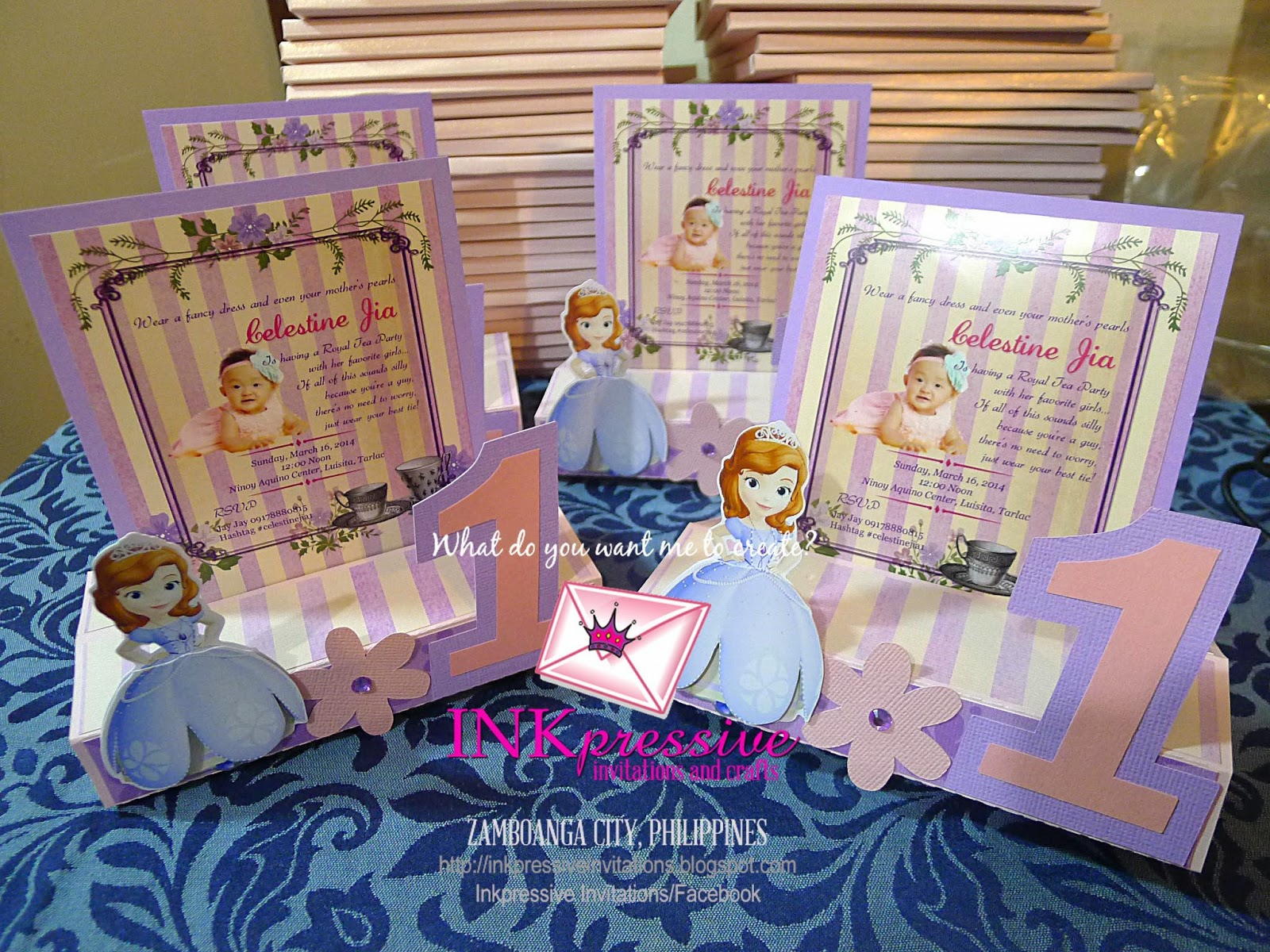 Princess sofia easel card classic pop up card and free standing free standing princess sofia teatime 1 size 5x6 with tag stopboris Image collections