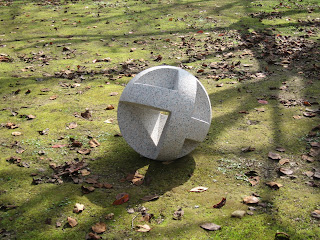 Abstract granite sculpture Forest spirit