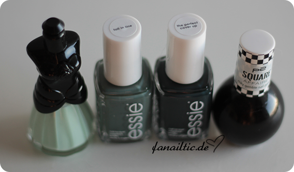 "essie ""fall in line"" + ""the perfect cover up"", Anna Sui N905, p2 ""straight black"""