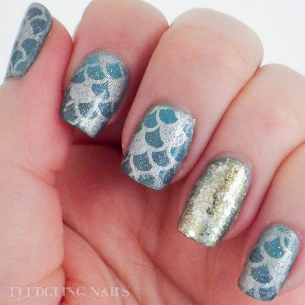 Fledgling nails nail art moyou london challenge day 4 fantasy nail art moyou london challenge day 4 fantasy mermaid nails prinsesfo Gallery