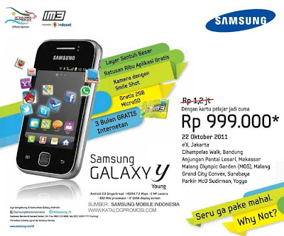 Promo Samsung Galaxy Y Young Indosat Indonesia