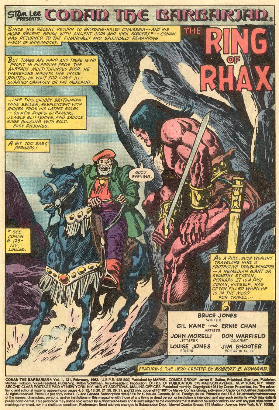 Conan the Barbarian (1970) Issue #131 #143 - English 2