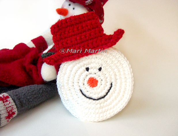Crochet Patterns Free Snowman : Thinking of Christmas Crochet Coasters Snowman ~ Crochet ...