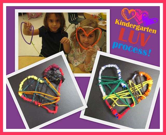 photo of: DIY Instructions for Heart Weavings in Kindergarten via RainbowsWithinReach