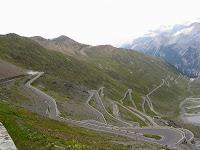 Widok z przełęczy Stelvio