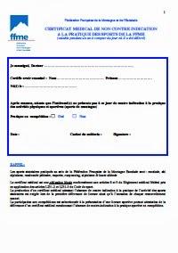 Certificat médical type