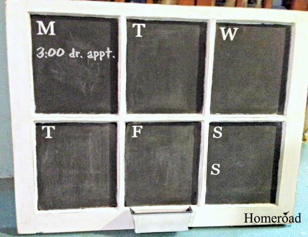 Window Weekly Calendar Chalkboard  www.homeroad.net