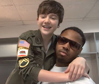 Greyson Chance and his drummer Jamal